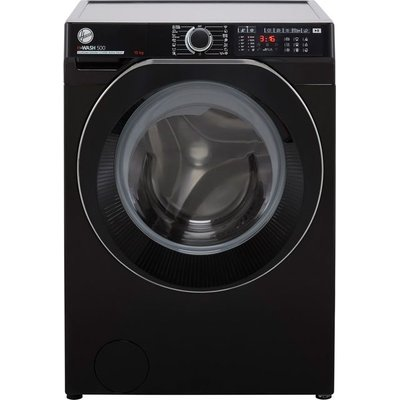Hoover H-WASH 500 HW410AMBCB/1 Wifi Connected 10Kg Washing Machine with 1400 rpm - Black - A Rated