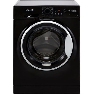 Hotpoint NSWM843CBSUKN 8Kg Washing Machine with 1400 rpm - Black - D Rated