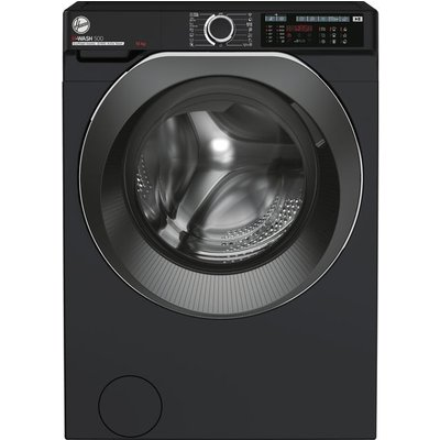 Hoover H-WASH 500 HW410AMBCB/1 Wifi Connected 10Kg Washing Machine with 1400 rpm - Black - A+++ Rated