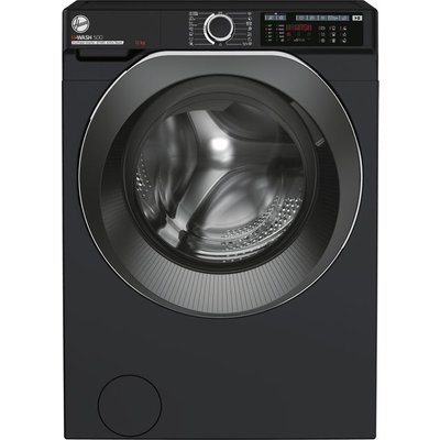 Hoover H-WASH 500 HW412AMBCB/1 Wifi Connected 12Kg Washing Machine with 1400 rpm - Black - A+++ Rated