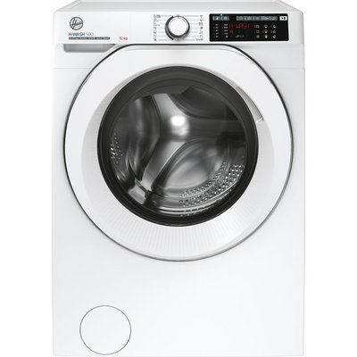 Hoover H-WASH 500 HW412AMC/1 Wifi Connected 12Kg Washing Machine with 1400 rpm - White - A+++ Rated