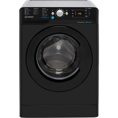 Indesit BWE91483XKUKN 9Kg Washing Machine with 1400 rpm - Black - D Rated
