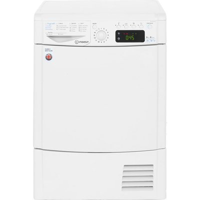 Indesit Eco Time IDCE8450BH 8Kg Condenser Tumble Dryer - White - B Rated