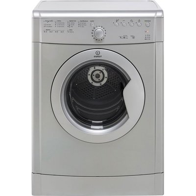 Indesit Eco Time IDVL75BRS 7Kg Vented Tumble Dryer - Silver - B Rated