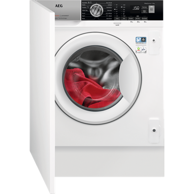 AEG ProSteam Technology L7FE7461BI Integrated 7Kg Washing Machine with 1400 rpm - White - A+++ Rated