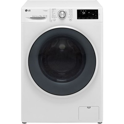 LG J6 F4J610WS 10Kg Washing Machine with 1400 rpm - White - A+++ Rated