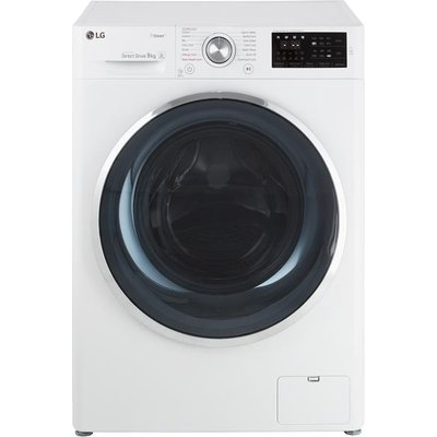 """LG Steamâ""""¢ F4J6VY2W 9Kg Washing Machine with 1400 rpm - White - A+++ Rated"""