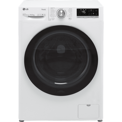 LG V7 F4V710WTSE Wifi Connected 10.5Kg Washing Machine with 1400 rpm - White - B Rated