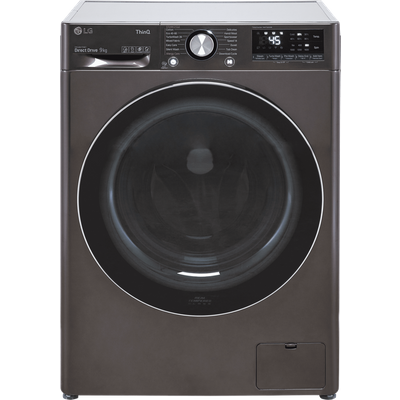 LG V9 F4V909BTSE Wifi Connected 9Kg Washing Machine with 1400 rpm - Steel Black - A Rated