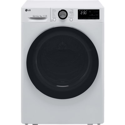 LG V9 FDV909W Wifi Connected 9Kg Heat Pump Tumble Dryer - White - A+++ Rated