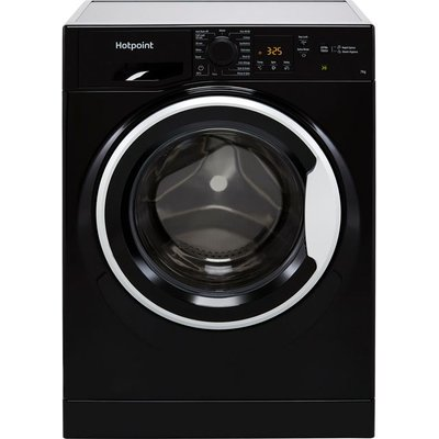 Hotpoint NSWM742UBSUKN 7Kg Washing Machine with 1400 rpm - Black - E Rated