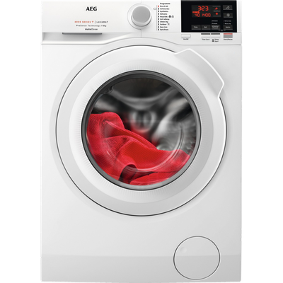 AEG ProSense Technology L6FBG841CA Wifi Connected 8Kg Washing Machine with 1400 rpm - White - A+++ Rated