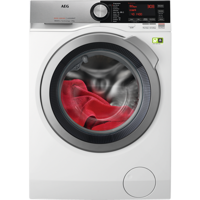 AEG OkoMix Technology L8FEC866R 8Kg Washing Machine with 1600 rpm - White - B Rated