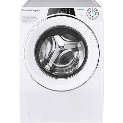 Candy Rapido RO16106DWHC7 Wifi Connected 10Kg Washing Machine with 1600 rpm - White - A+++ Rated