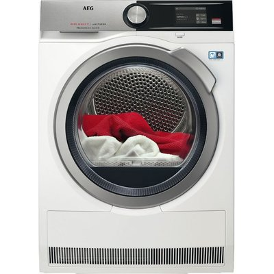 AEG AbsoluteCare Technology T8DEA866C Wifi Connected 8Kg Heat Pump Tumble Dryer - White - A+++ Rated