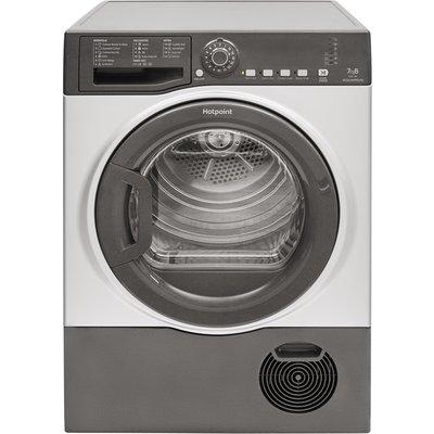 Hotpoint Aquarius TCFS73BGG 7Kg Condenser Tumble Dryer - Graphite - B Rated