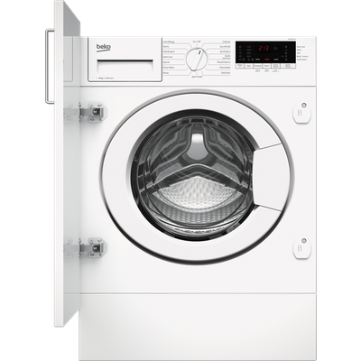 """Beko RecycledTubâ""""¢ WTIK84111F Integrated 8Kg Washing Machine with 1400 rpm - White - C Rated"""