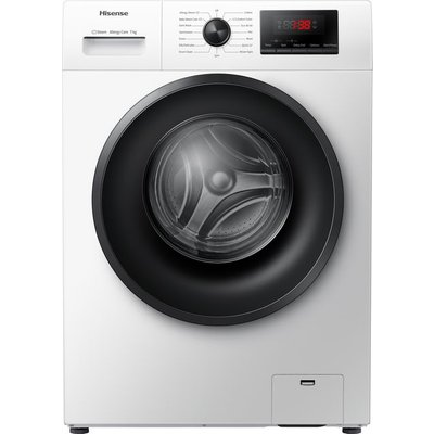 Hisense WFPV7012EM 7Kg Washing Machine with 1200 rpm - White - A+++ Rated