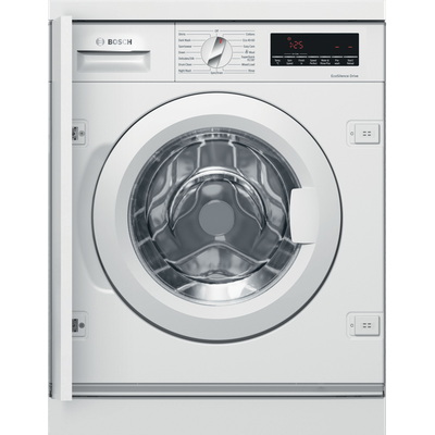 Bosch Serie 8 WIW28501GB Integrated 8Kg Washing Machine with 1400 rpm - White - A+++ Rated