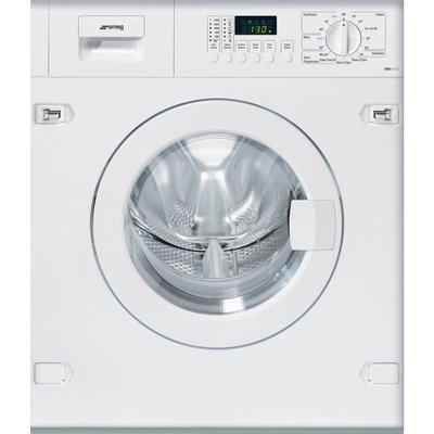 Smeg WMI147C Integrated 7Kg Washing Machine with 1400 rpm - White - E Rated