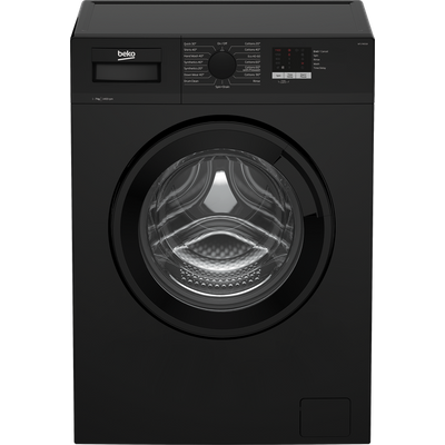 Beko WTL74051B 7Kg Washing Machine with 1400 rpm - Black - A+++ Rated