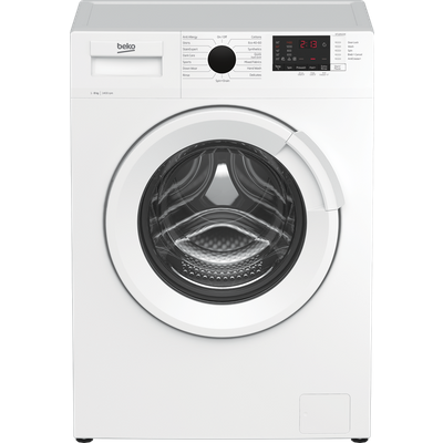 Beko WTL84121W 8Kg Washing Machine with 1400 rpm - White - A+++ Rated