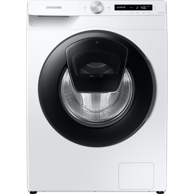 "Samsung AddWashâ""¢ ecobubbleâ""¢ WW80T554DAW Wifi Connected 8Kg Washing Machine with 1400 rpm - White - A+++ Rated"