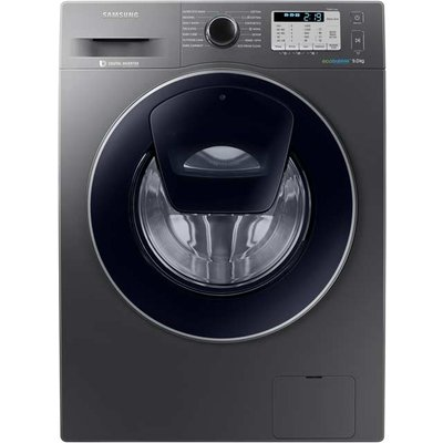 "Samsung AddWashâ""¢ ecobubbleâ""¢ WW90K5413UX 9Kg Washing Machine with 1400 rpm - Graphite - A+++ Rated"