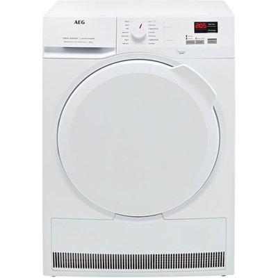AEG SensiDry Technology T7DBK840N 8Kg Heat Pump Tumble Dryer - White - A++ Rated