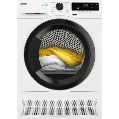Zanussi ZDH87A2DG 8Kg Heat Pump Tumble Dryer - White - A++ Rated