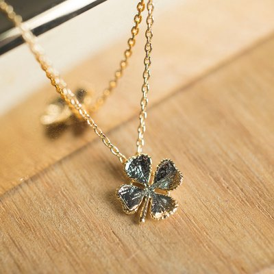 Estella Bartlett Lucky Clover Gold-Plated Necklace