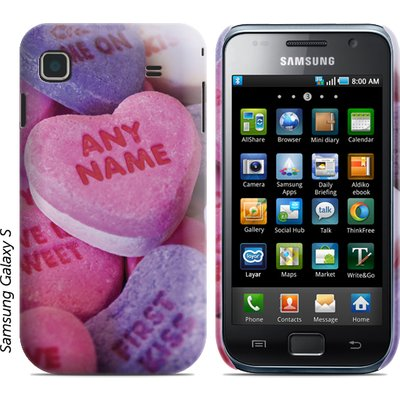 Personalised Samsung Phone Cover - Candy Hearts