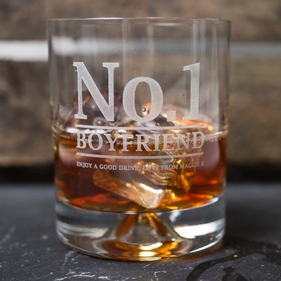 Engraved Stern Whisky Glass - No.1