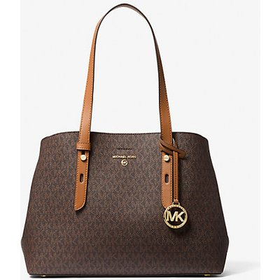 MK Shopper Mel Medium Mit Logo - Braun - Michael Kors | MICHAEL KORS SALE