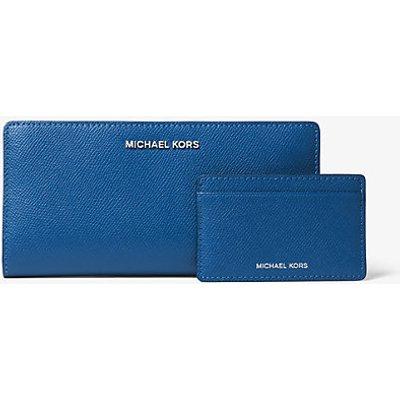MICHAEL KORS Schmale Brieftasche Jet Set Large Aus Quer Genarbtem Leder