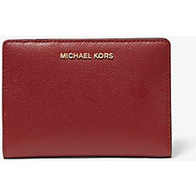MICHAEL KORS Mittelgroße Schmale Brieftasche Aus Quer Genarbtem Leder