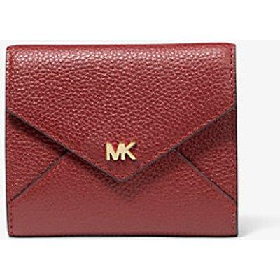 MICHAEL KORS Mittelgroße Zweifarbige Brieftasche Aus Gekrispeltem Leder Mit Umschlag