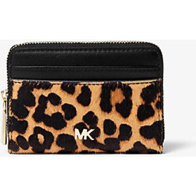 MICHAEL KORS Kleine Brieftasche Aus Kalbshaar Mit Leopardenmuster