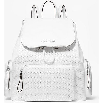 MK Rucksack Abbey Medium Mit Perforationen - Optic White(Weiss) - Michael Kors