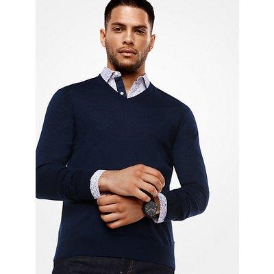 MICHAEL KORS Sweater Aus Merinowolle Mit V-Ausschnitt