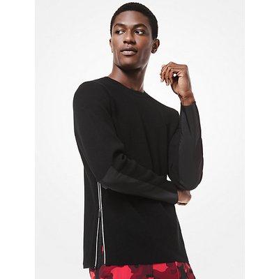MICHAEL KORS Sweater Aus Materialmix Mit Seitlichen Reißverschlüssen