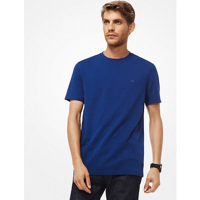 MK T-Shirt Aus Baumwolle - Officer Blue - Michael Kors