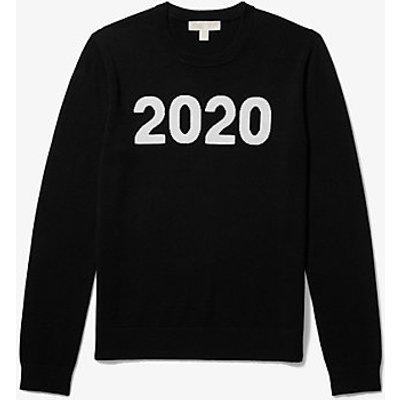 MK Sweater Aus Wolle Und Kaschmir Mit 2020-Print - Schwarz(Schwarz) - Michael Kors