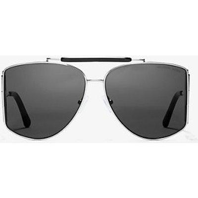 MK Nash Sunglasses - Schwarz/silberton(Silberton) - Michael Kors