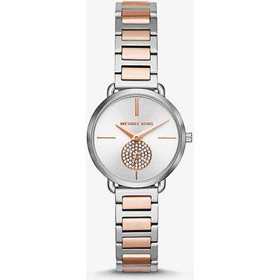 MK Zweifarbige Armbanduhr Petite Portia - Zweifarbig(Silberton) - Michael Kors