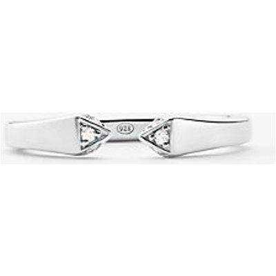 MK Offener Pavé-Ring Aus Sterlingsilber Mit Edelmetallbeschichtung - Silberton(Silberton) - Michael Kors