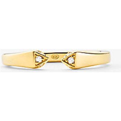 MK Offener Pavé-Ring Aus Sterlingsilber Mit Edelmetallbeschichtung - Goldton(Goldton) - Michael Kors