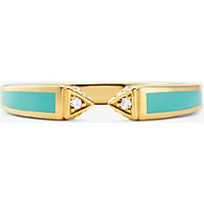 MK Offener Pavé-Ring Aus Sterlingsilber Mit 14-Karätiger Goldbeschichtung - Goldton(Goldton) - Michael Kors