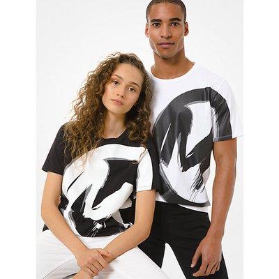 MK Unisex-T-Shirt Aus Baumwoll-Jersey Mit Logo - Weiss(Weiss) - Michael Kors