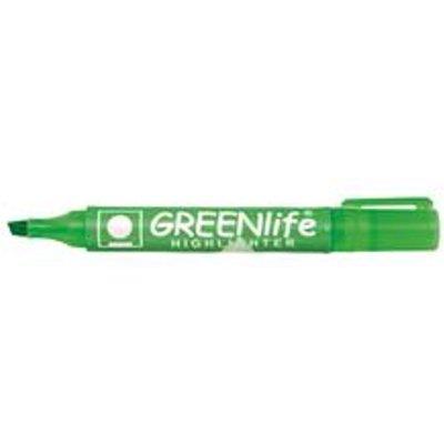 5 Star Eco Highlighter Green [Pack 10}